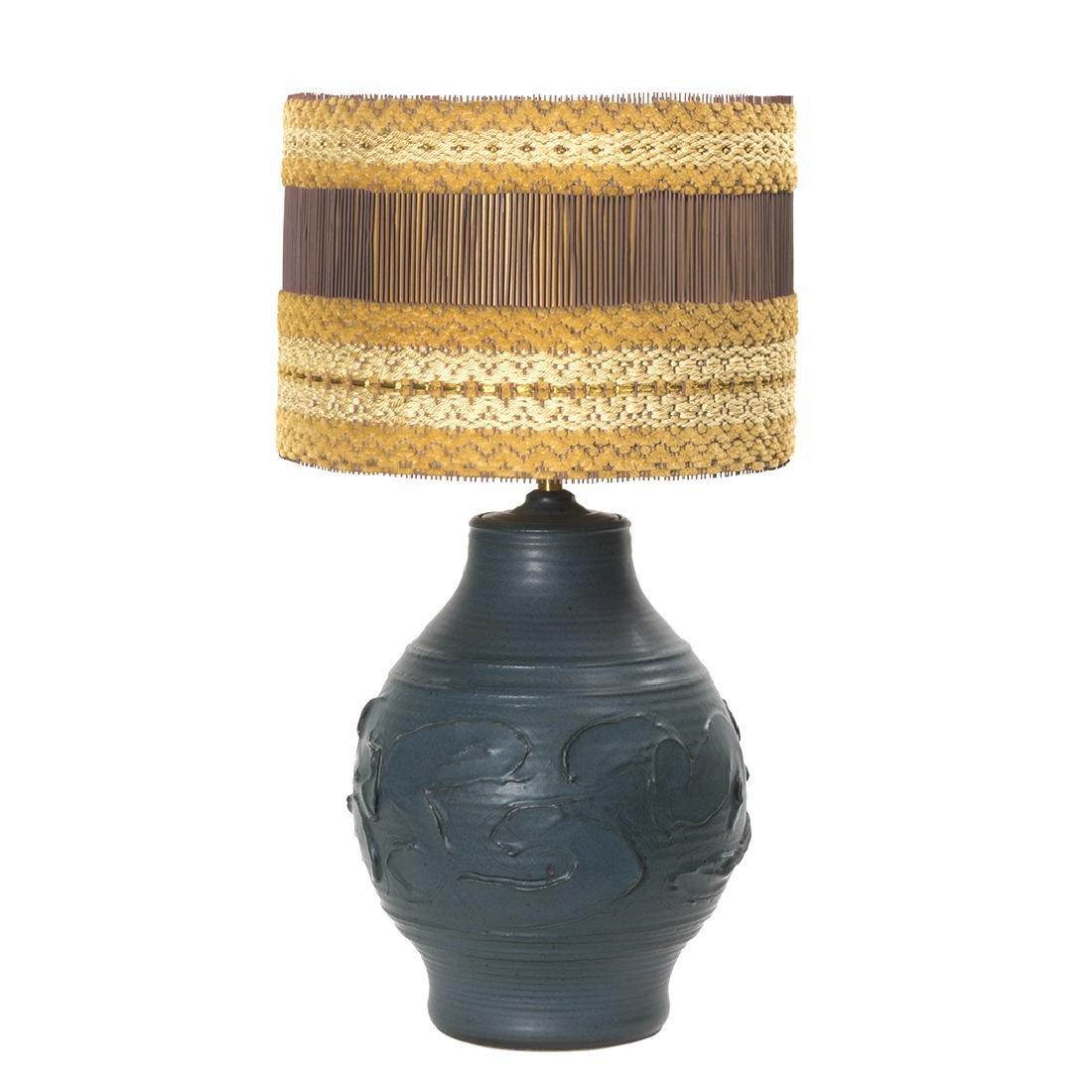 Bob Kinzie and Maria Kipp Stoneware Lamp and Shade