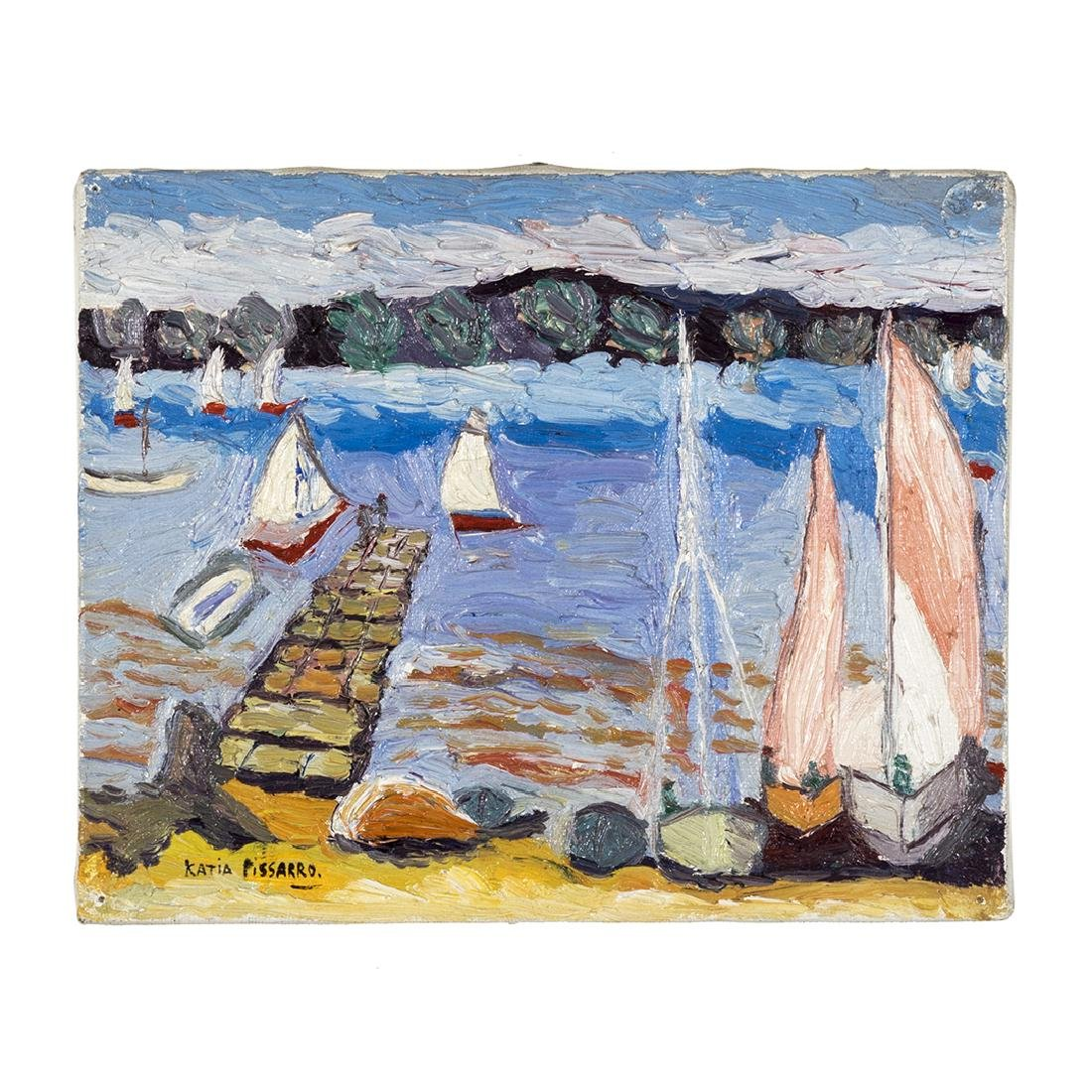 Katia Pissarro St. Halo Oil Painting