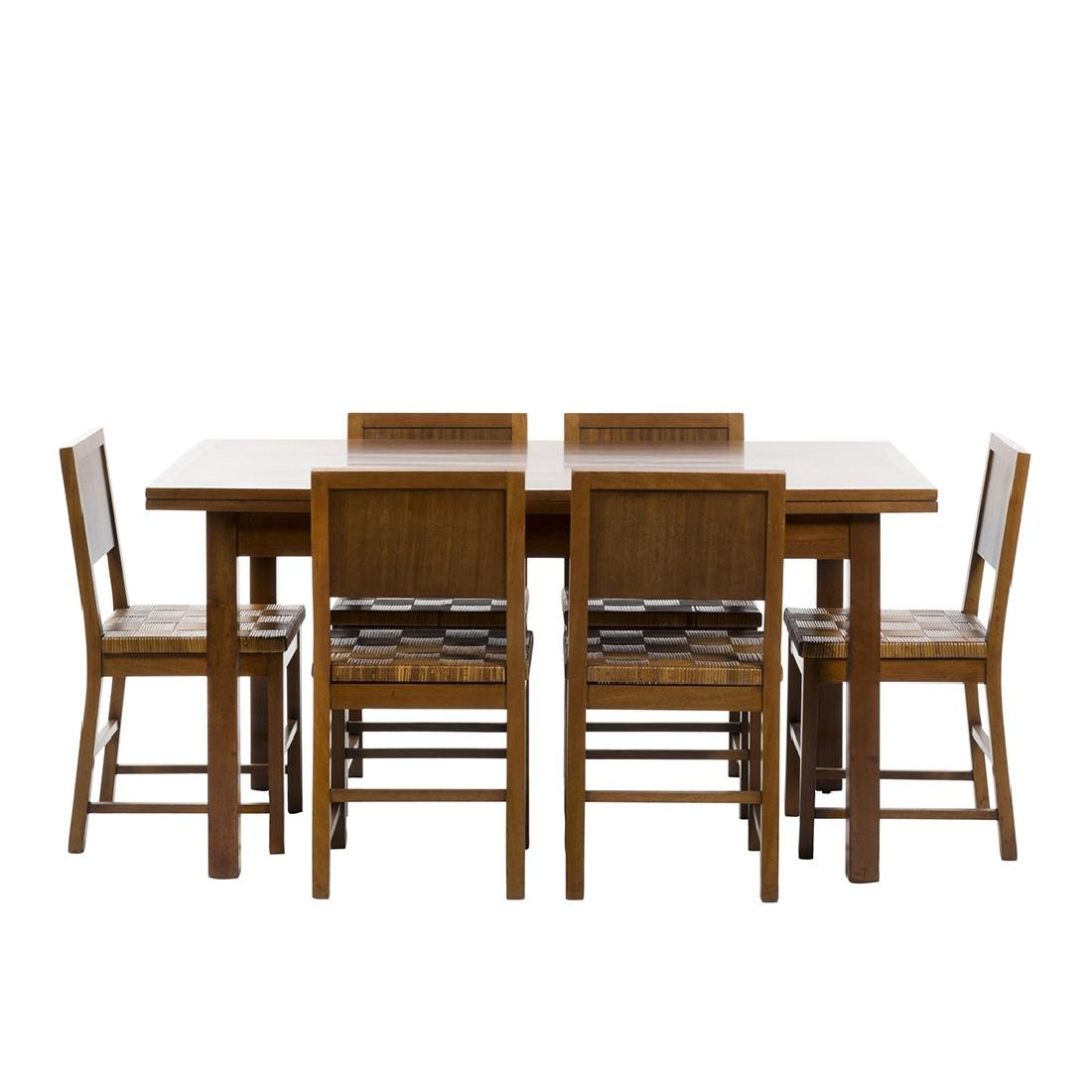 Francis Jourdain Dining Table and Chairs (7)
