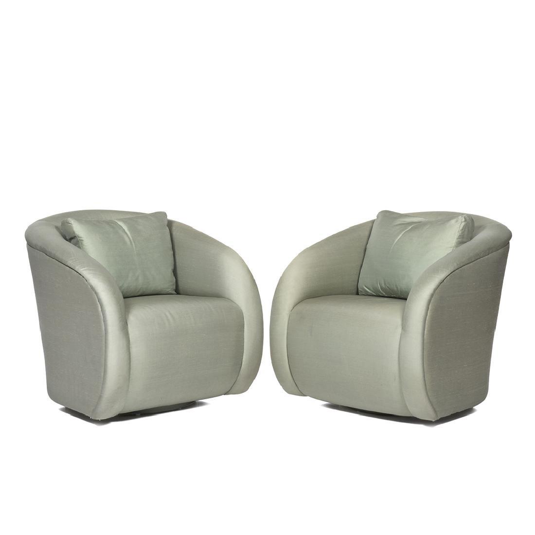 Silk Lounge Chairs (2)