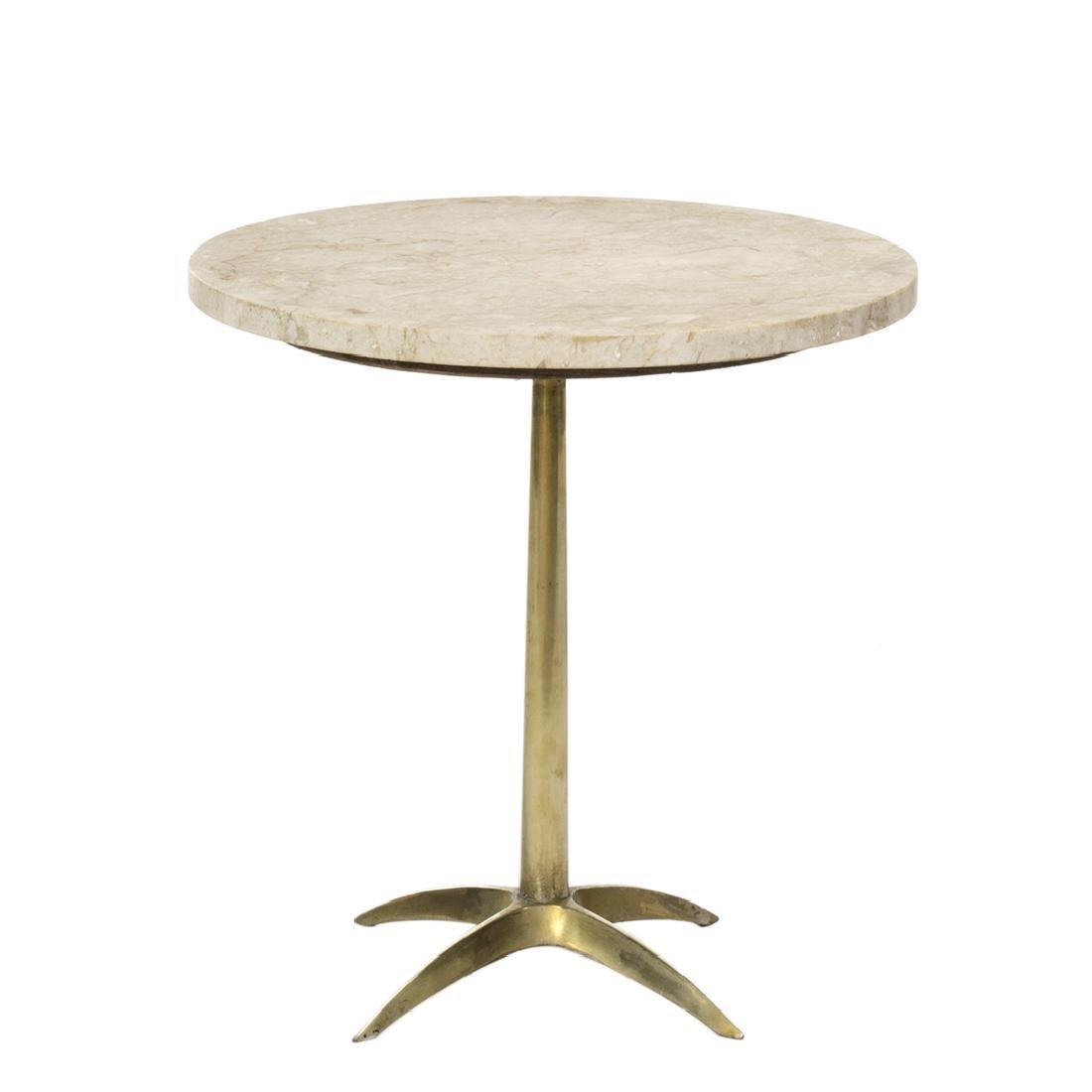 Italian Travertine Side Table