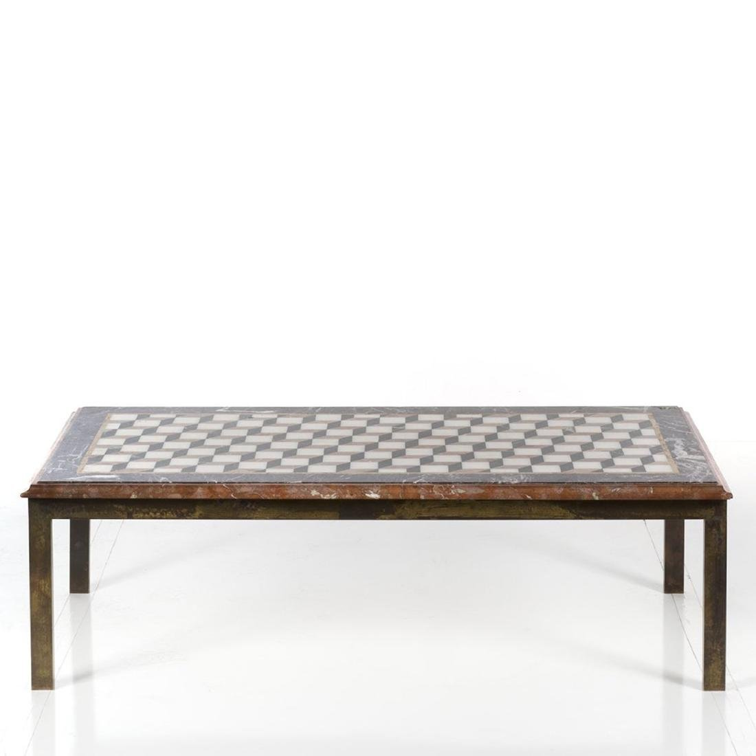 Marble and Brass Framed Coffee Table - 3