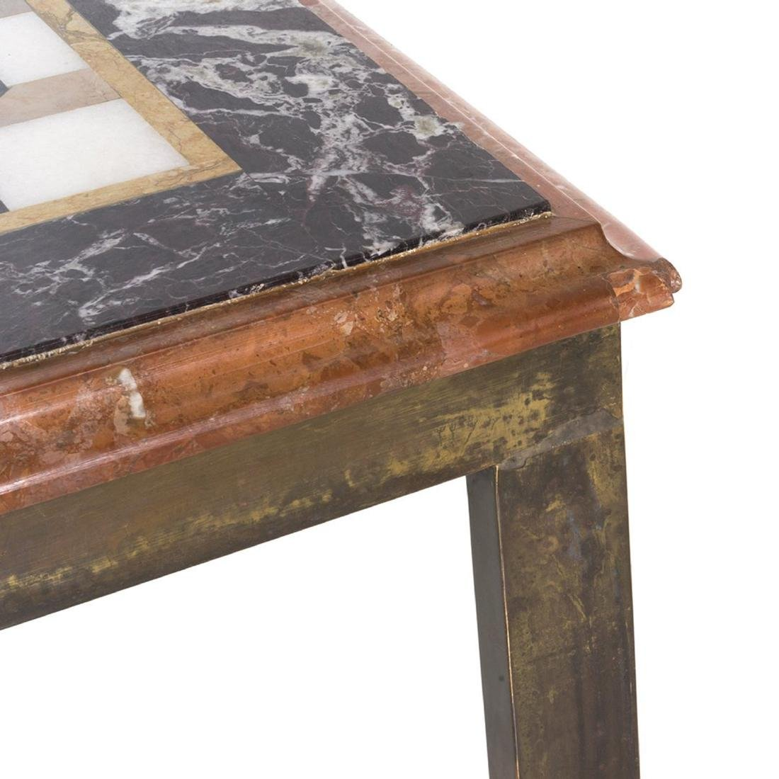 Marble and Brass Framed Coffee Table - 5