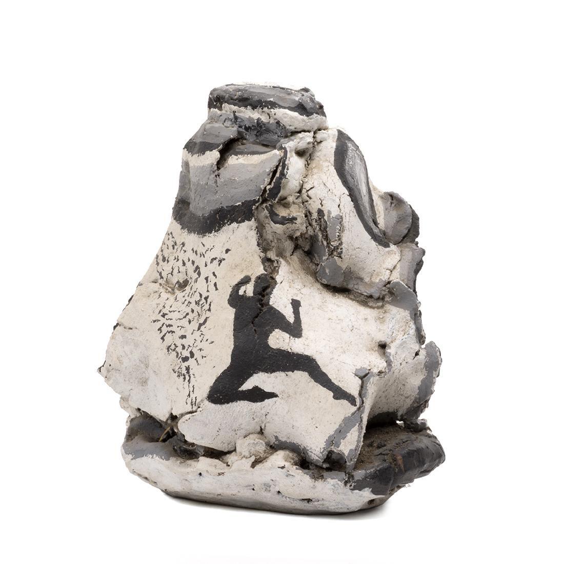 Rudy Autio Style Matte Glazed Slab Form Vase