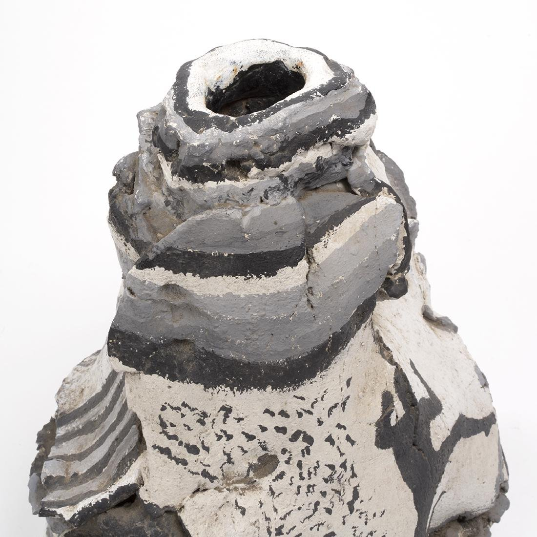 Rudy Autio Style Matte Glazed Slab Form Vase - 4