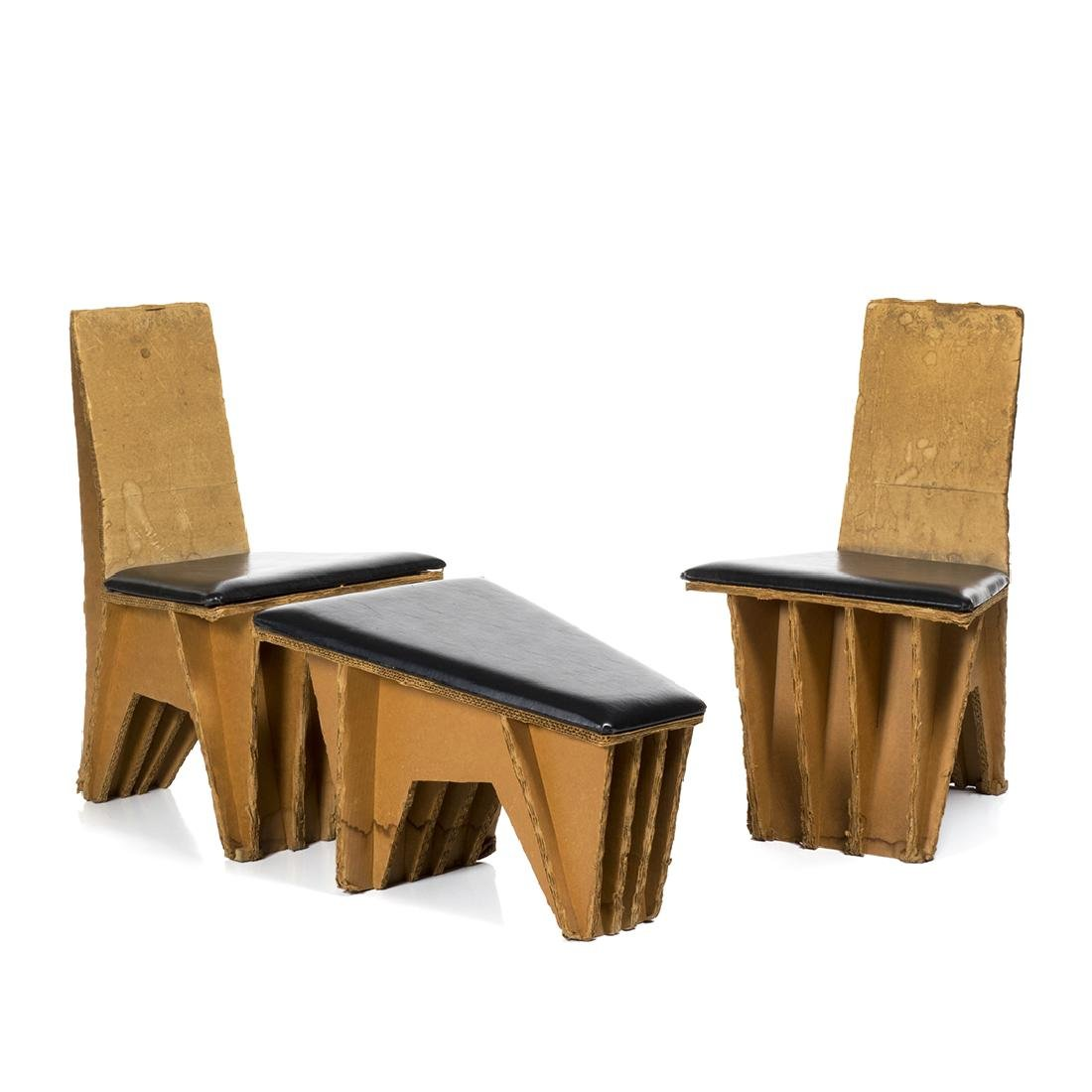 Joel Stearns Chairs and Ottoman (3)