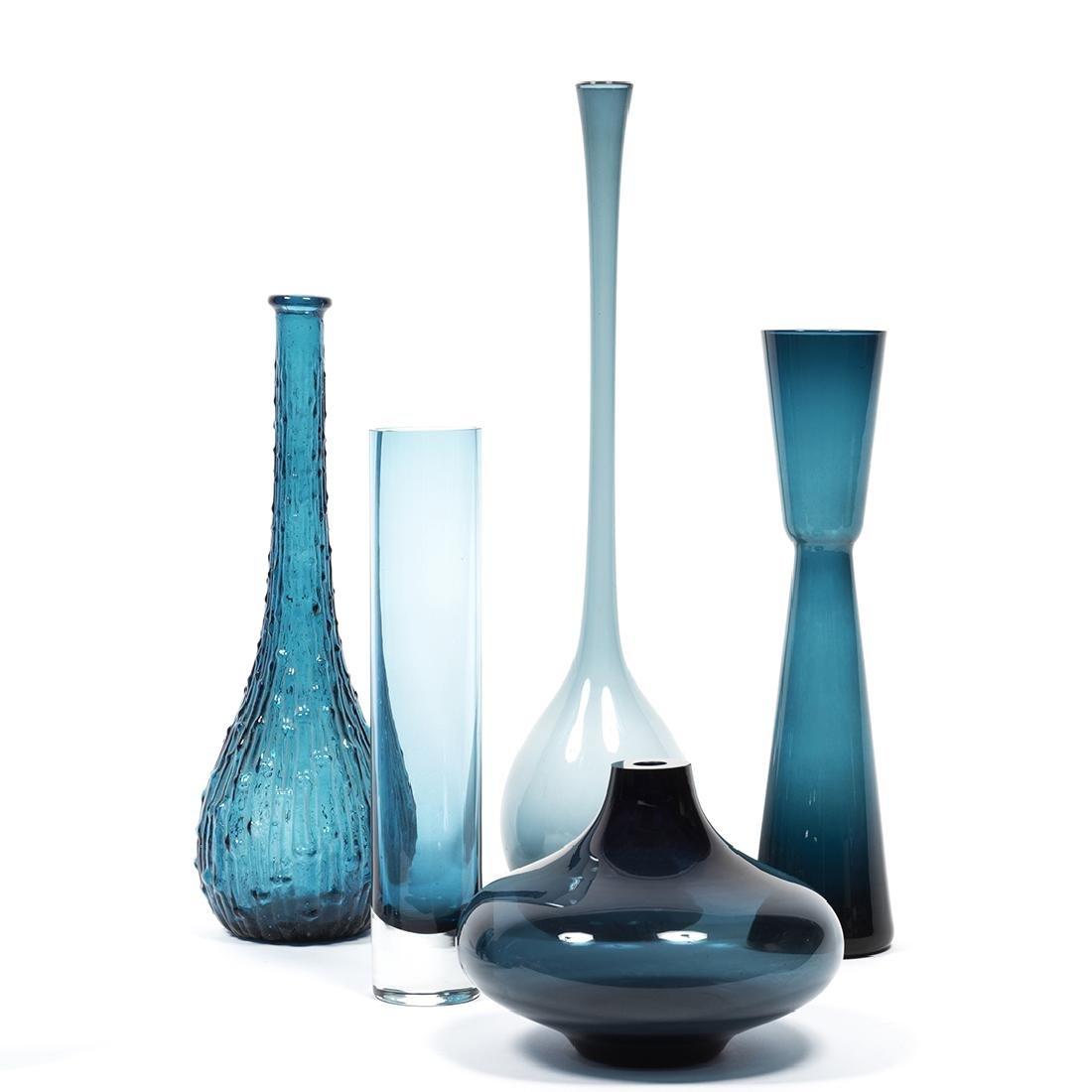 Modernist Blue Glass (32) - 2