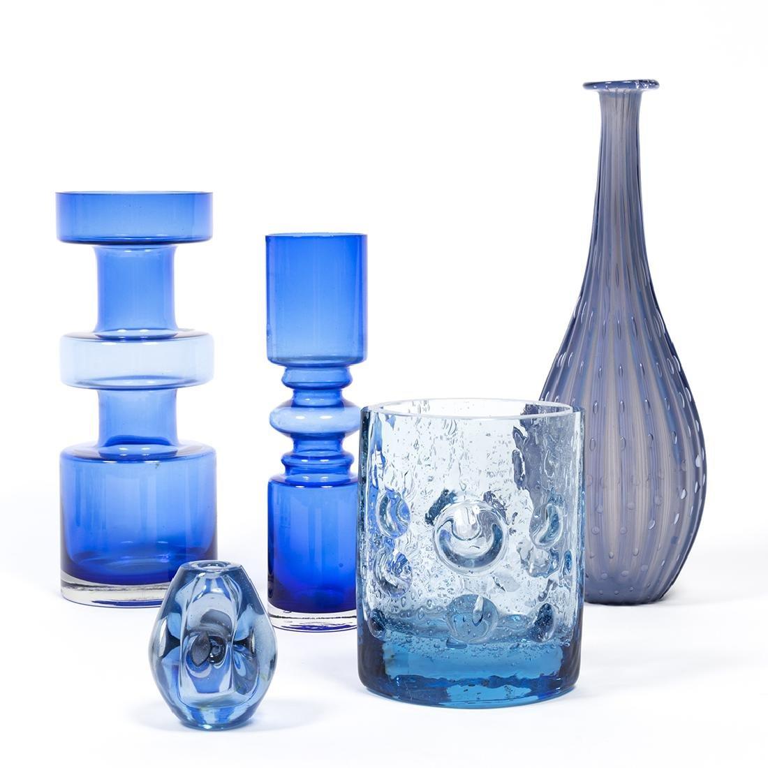 Modernist Blue Glass (32) - 3