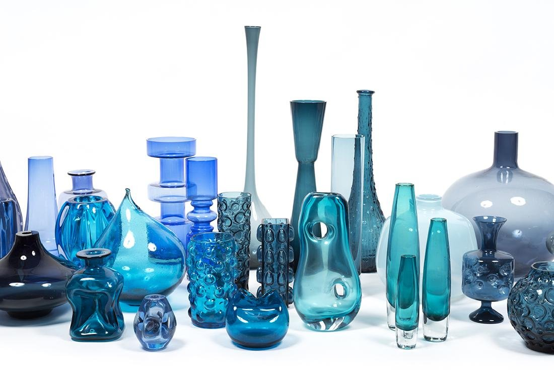 Modernist Blue Glass (32) - 7