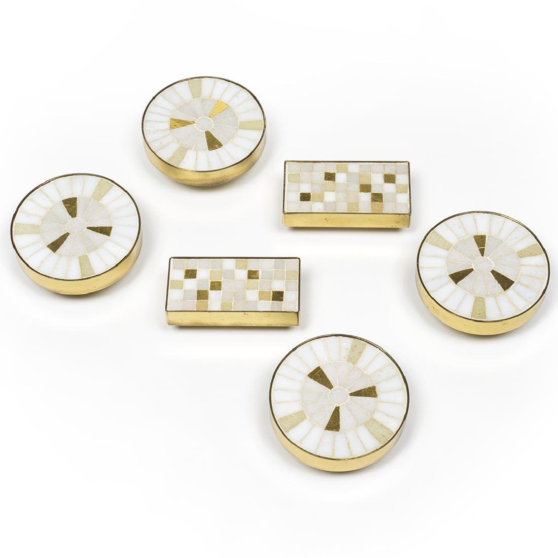 Tiled Brass Cabinet Pulls