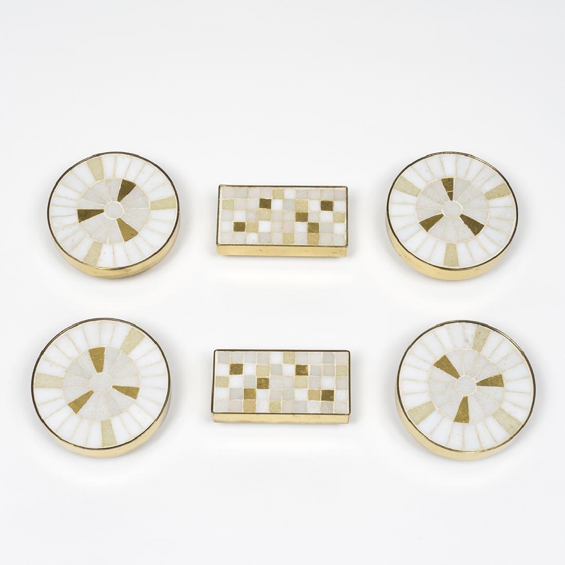 Tiled Brass Cabinet Pulls - 2