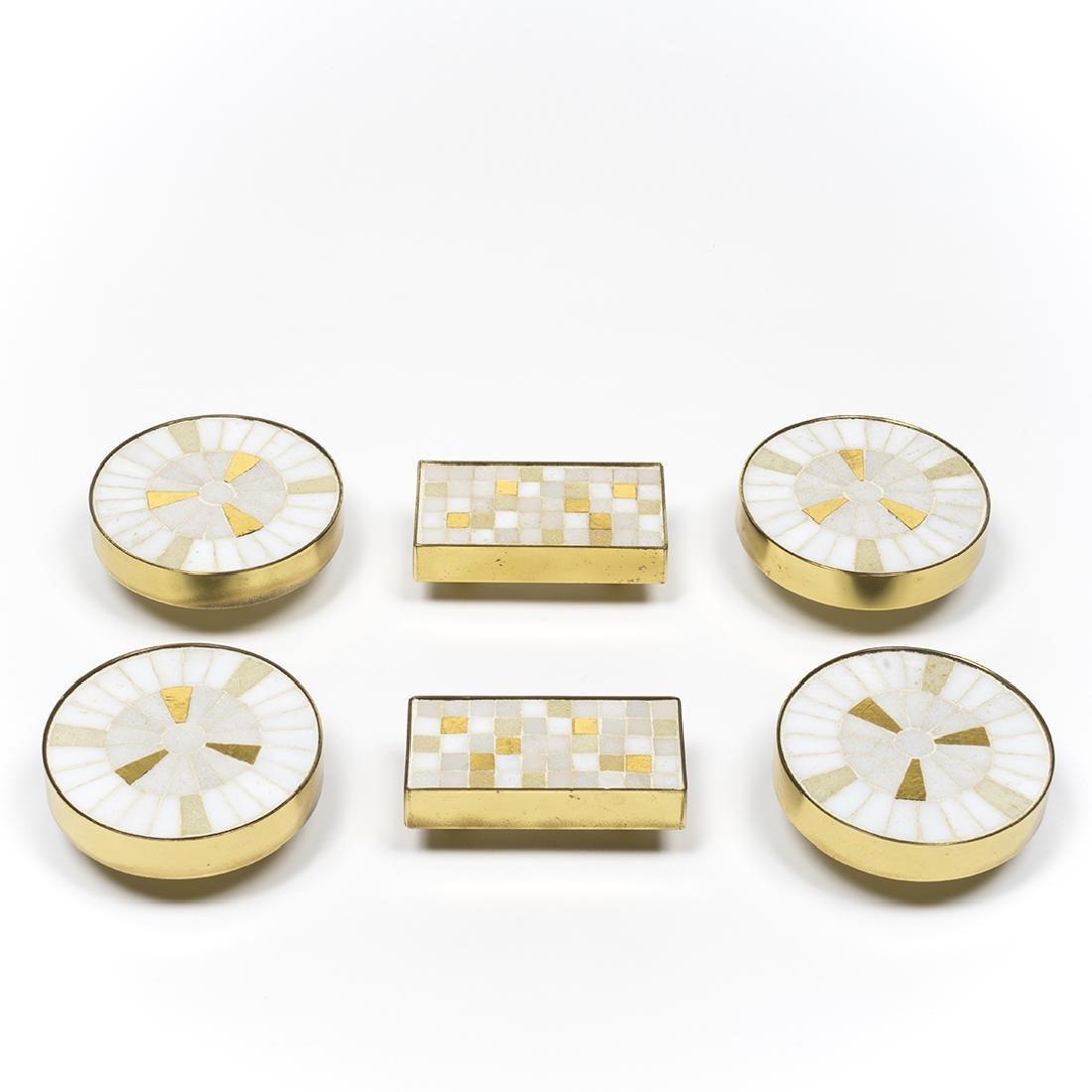 Tiled Brass Cabinet Pulls - 3