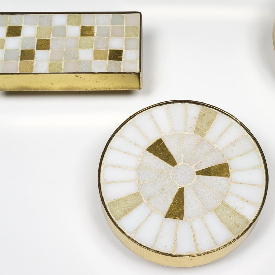 Tiled Brass Cabinet Pulls - 5