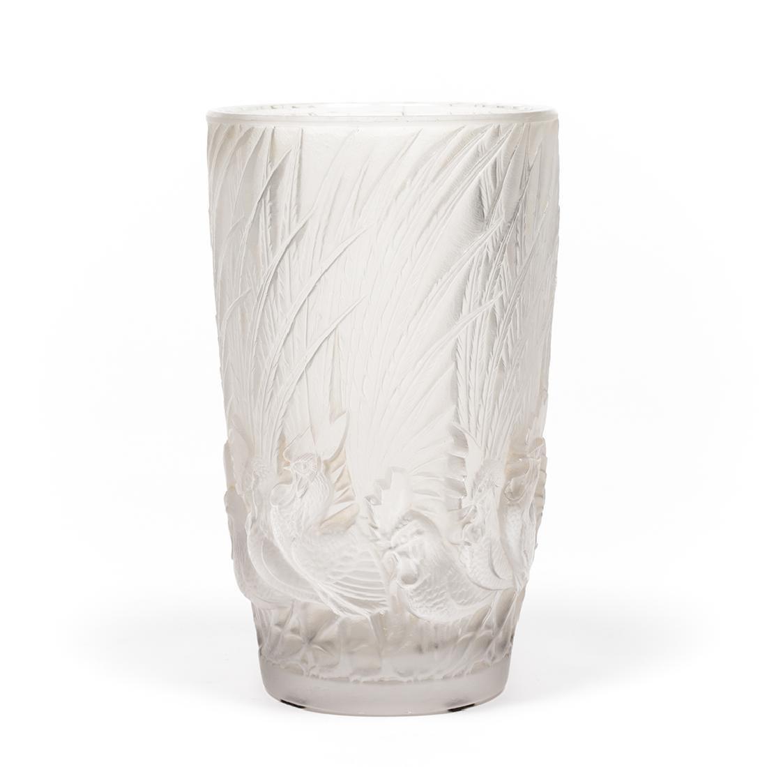 Lalique Coqs et Plumes Vase