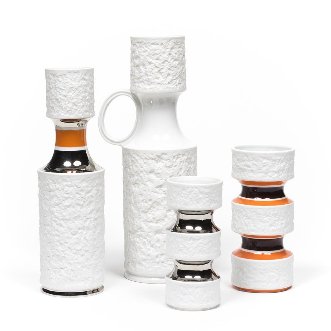 KPM Bisque Vases