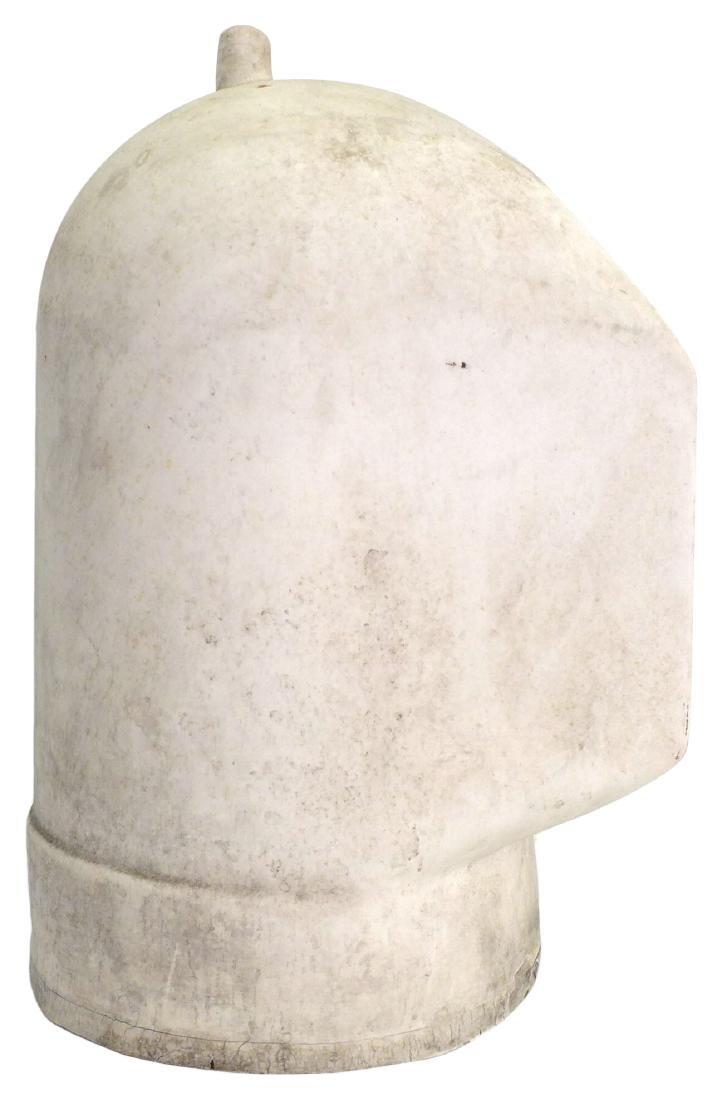 Porcelain Welder's Helmet Mold - 3