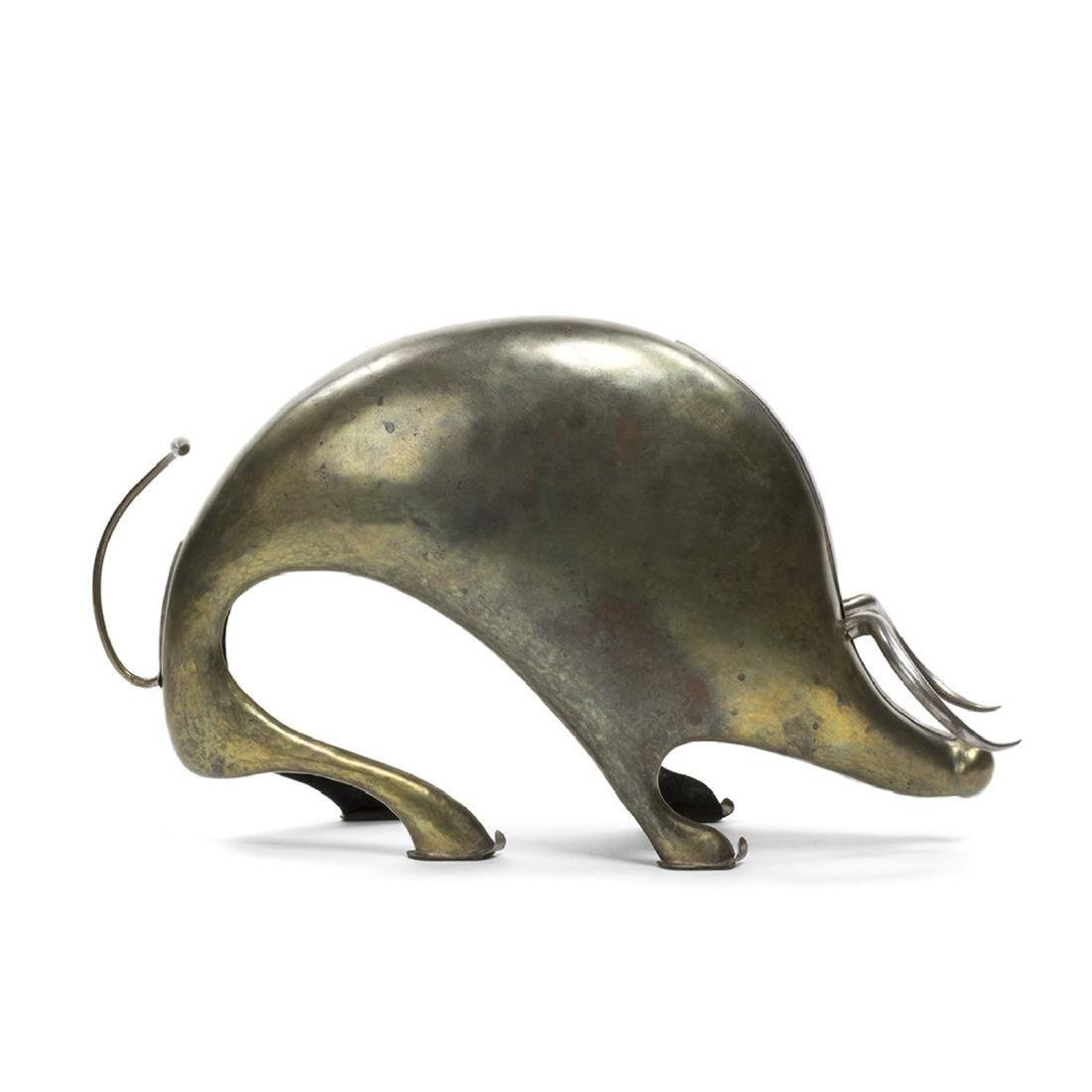 Metal Stylized Bull Sculpture - 4