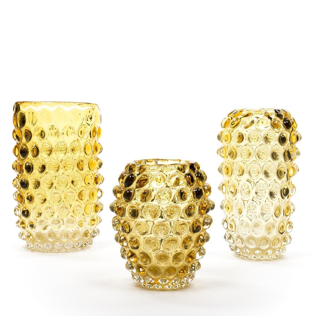 Murano Glass Amber Vases (3) - 2