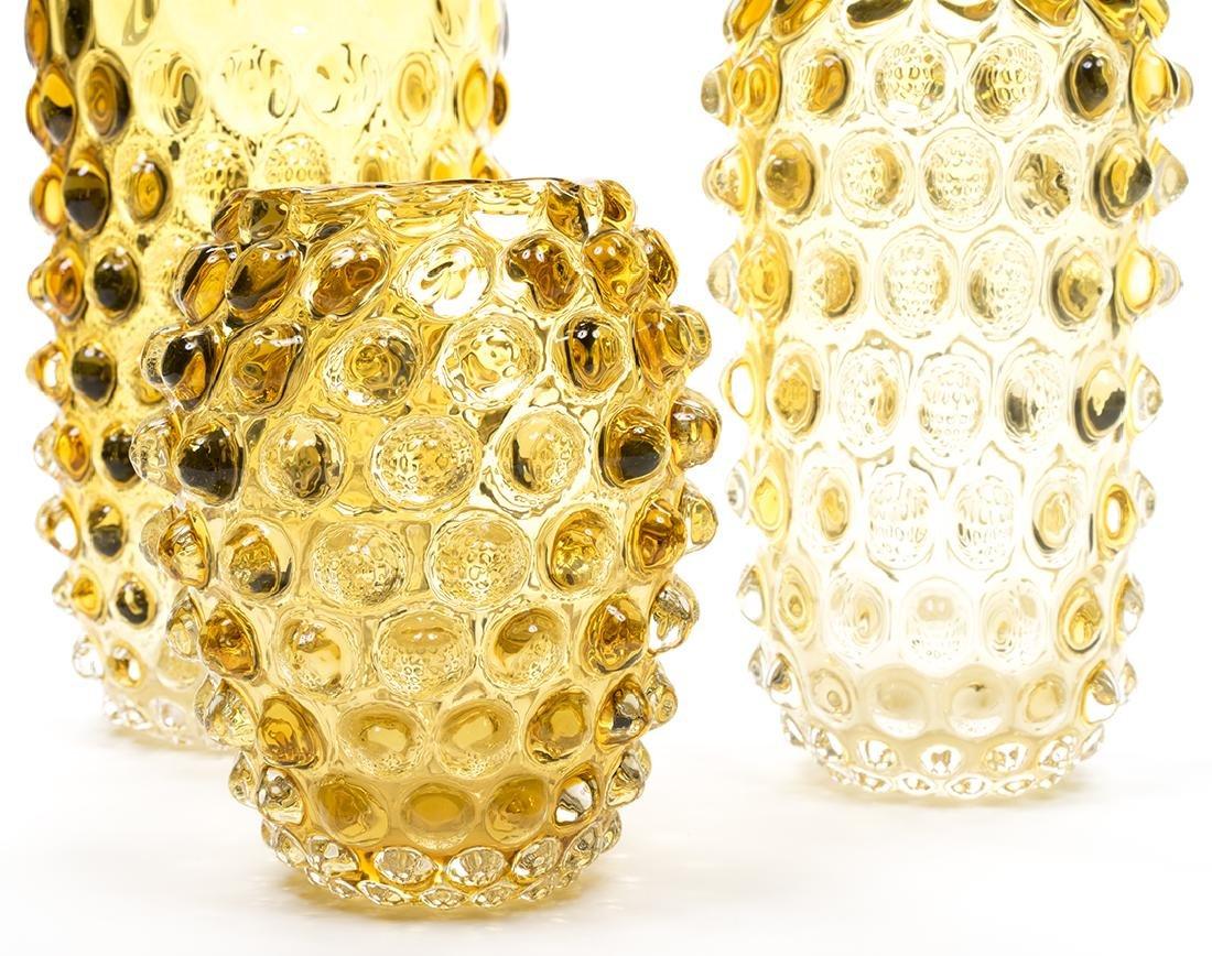 Murano Glass Amber Vases (3) - 4