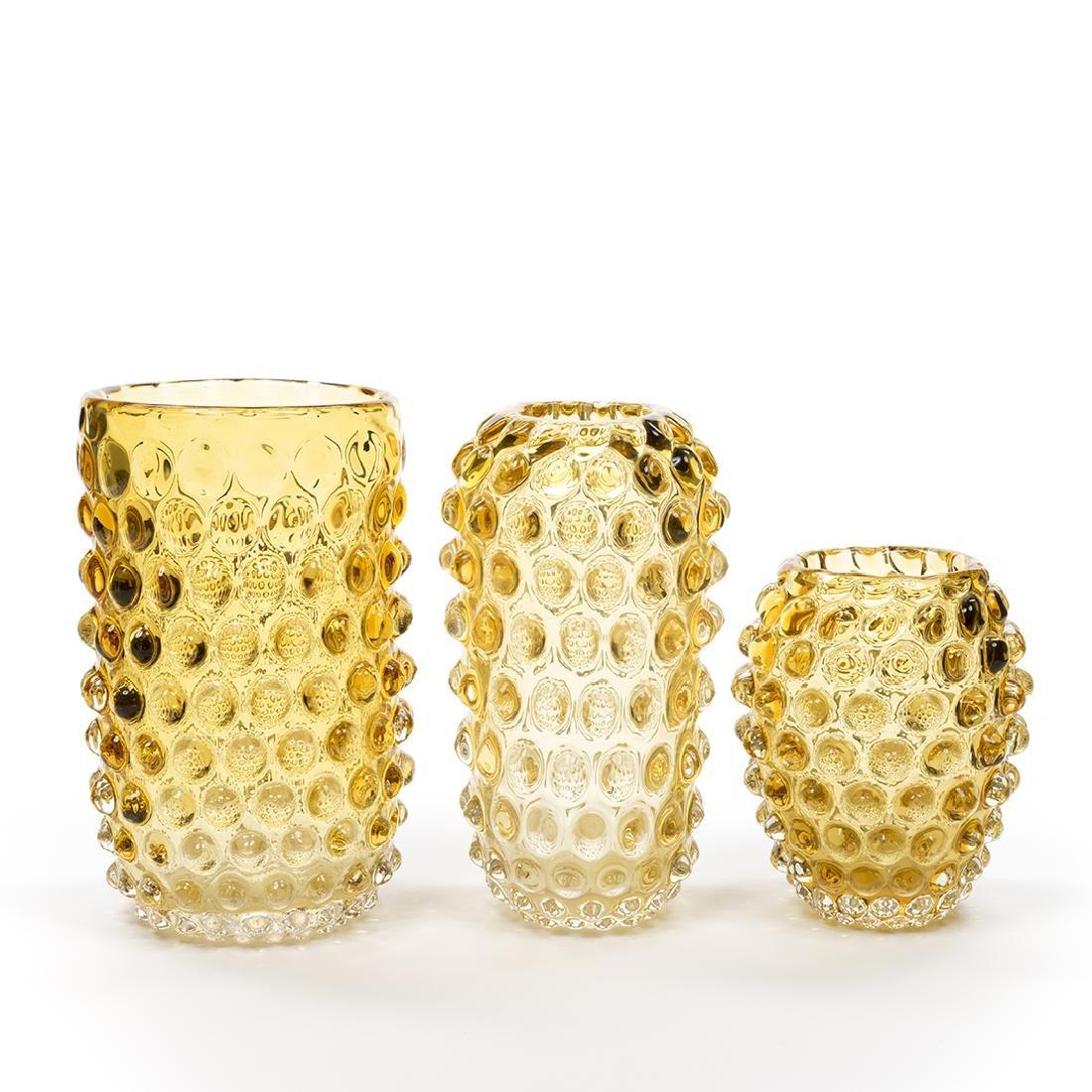Murano Glass Amber Vases (3) - 5
