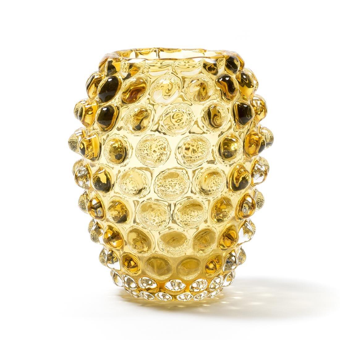 Murano Glass Amber Vases (3) - 6