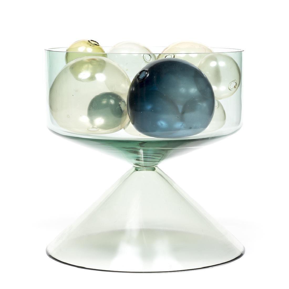 Timo Sarpaneva Style Vase With Glass Balls