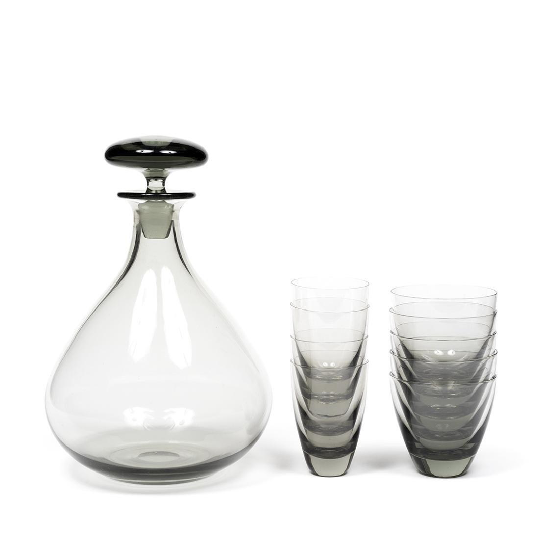 Per Lutken Bottle and Glasses (12) - 2