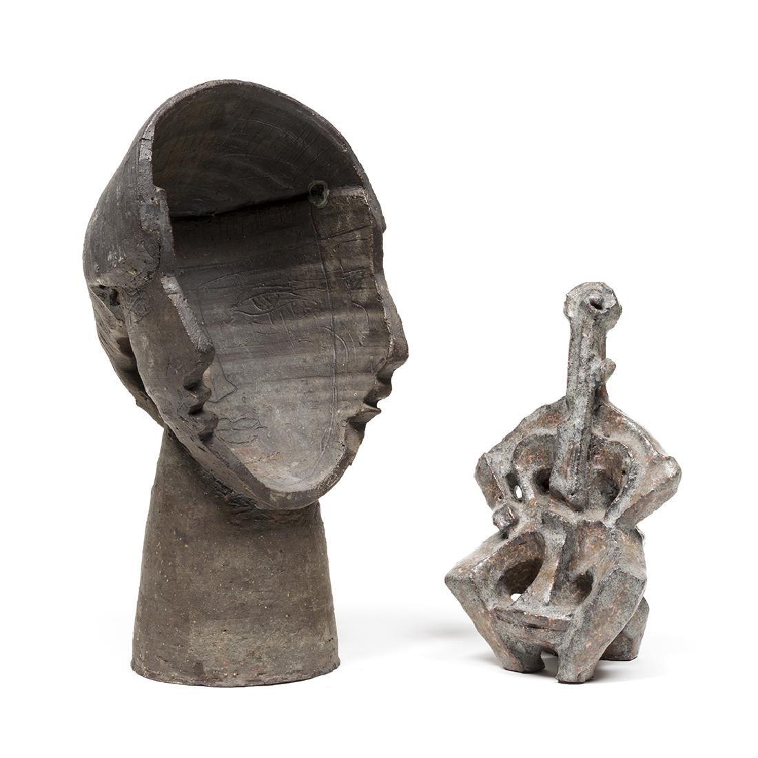 Jacobson Cellist and Faces Sculptures - 2