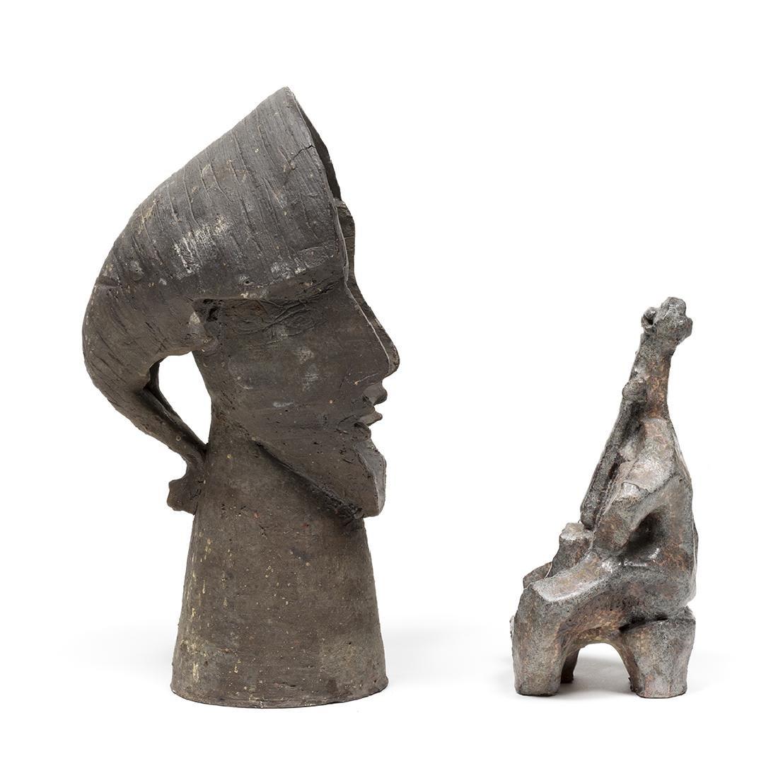 Jacobson Cellist and Faces Sculptures - 3