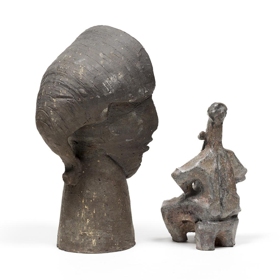 Jacobson Cellist and Faces Sculptures - 4