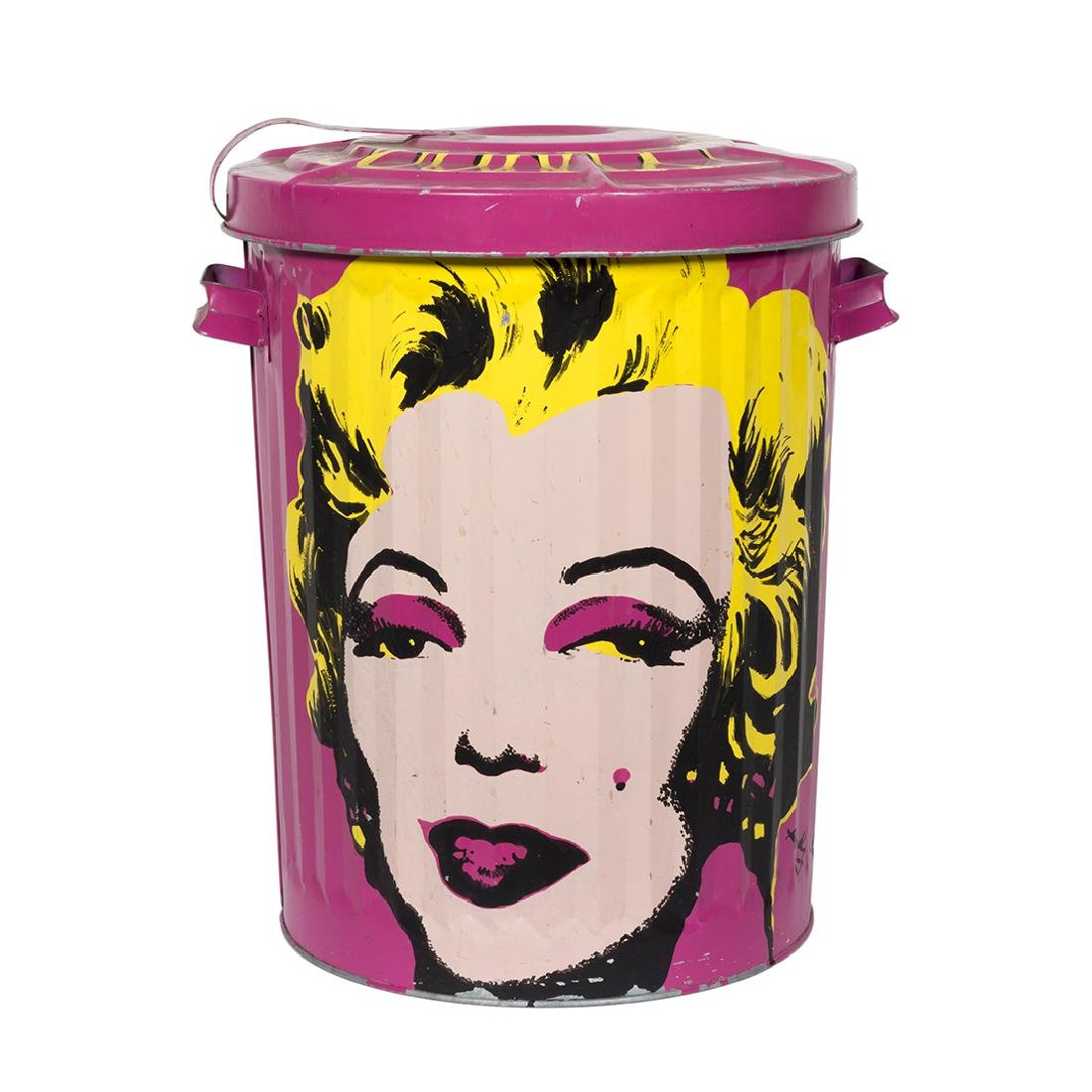 Painted Steel Trash Can After Warhol