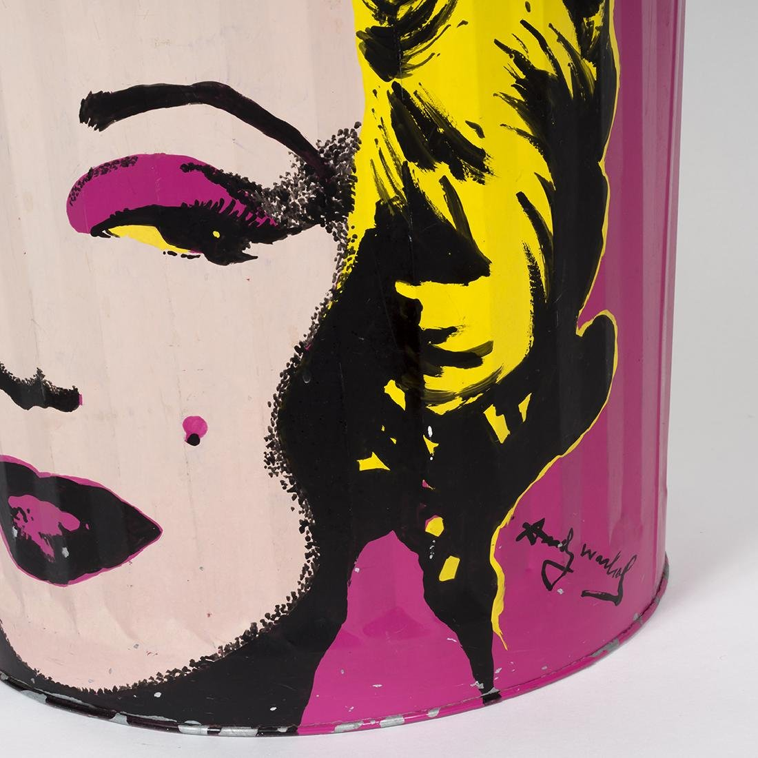 Painted Steel Trash Can After Warhol - 4