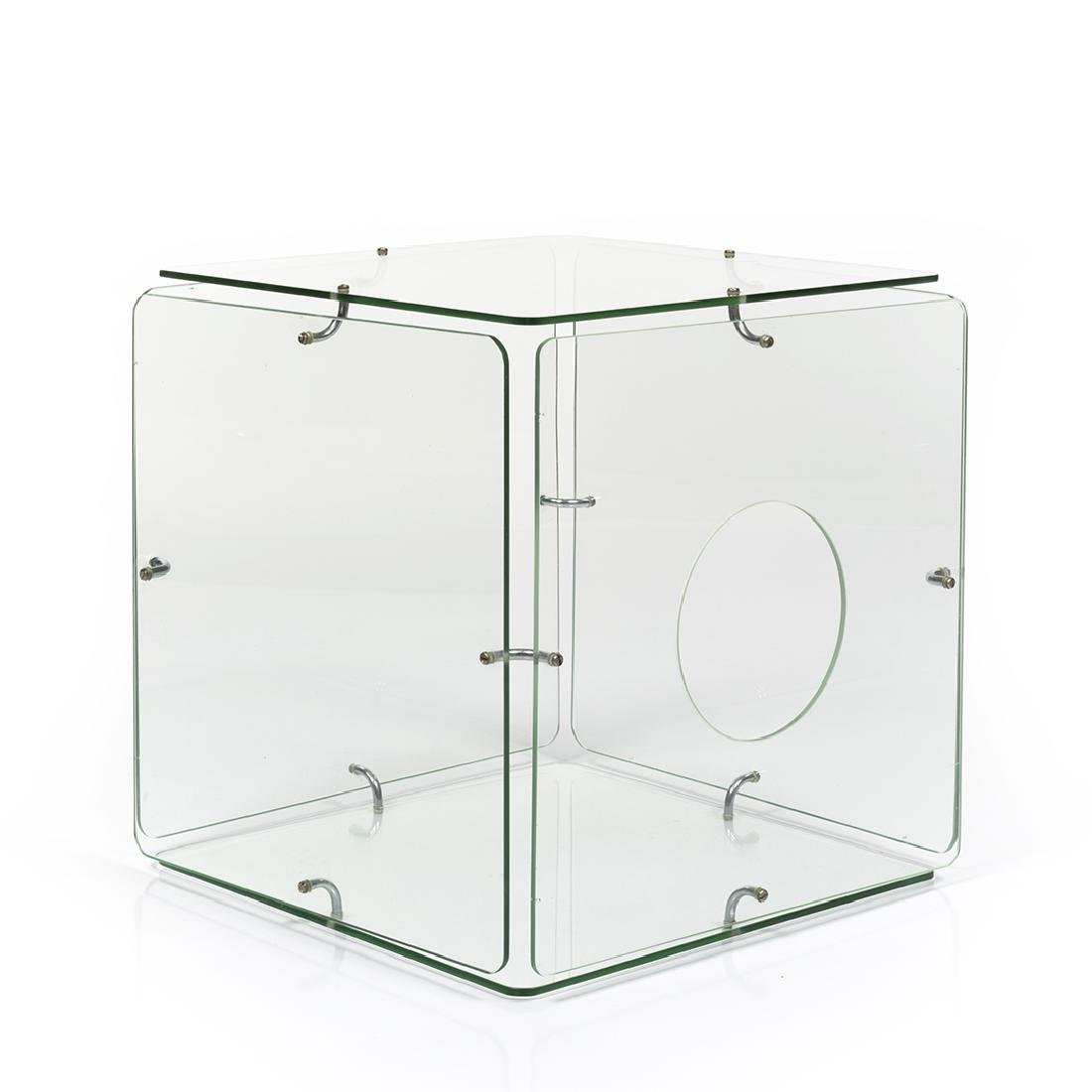 Gerald McCabe Glass Cube Table