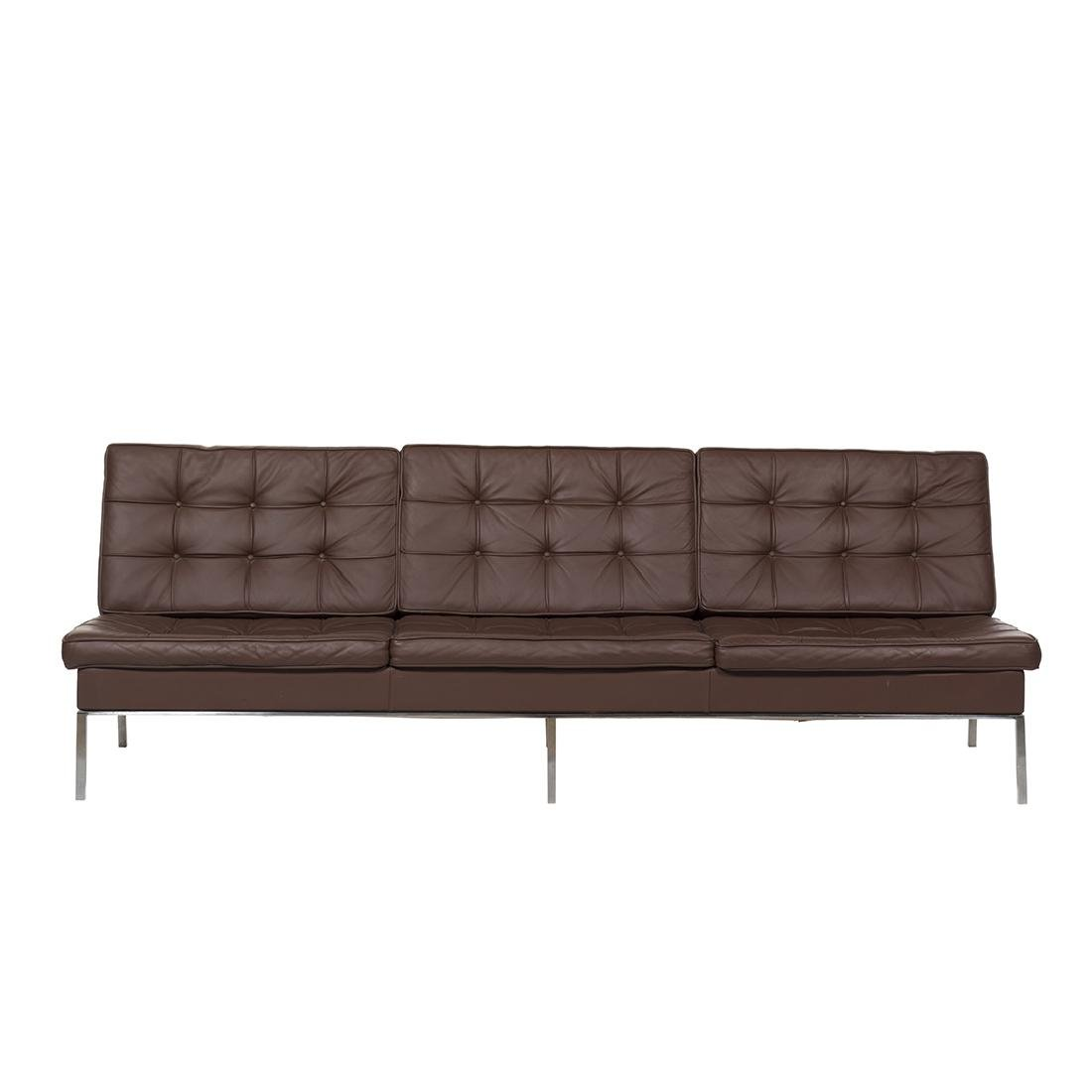 Florence Knoll Leather Sofa