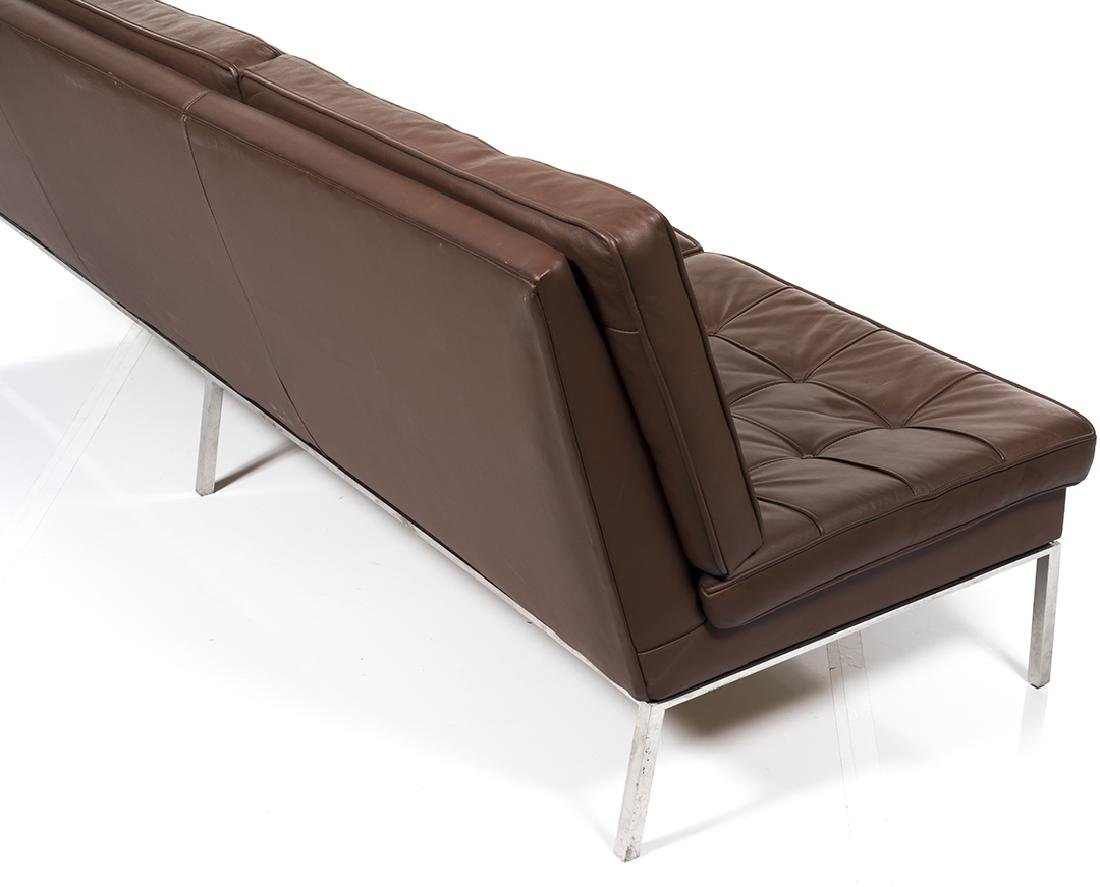 Florence Knoll Leather Sofa - 5