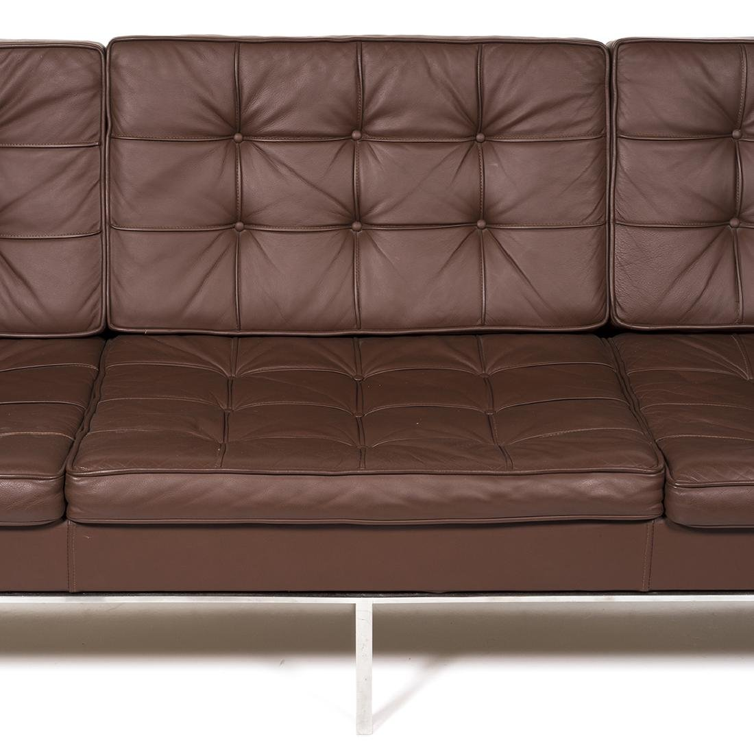 Florence Knoll Leather Sofa - 6