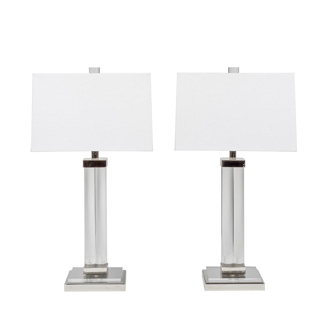 Charles Hollis Jones Post Line Table Lamps (2)