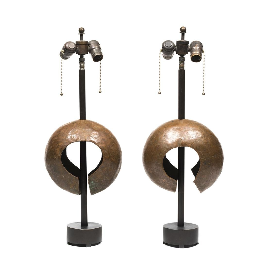 Hammered Copper Lamps (2)