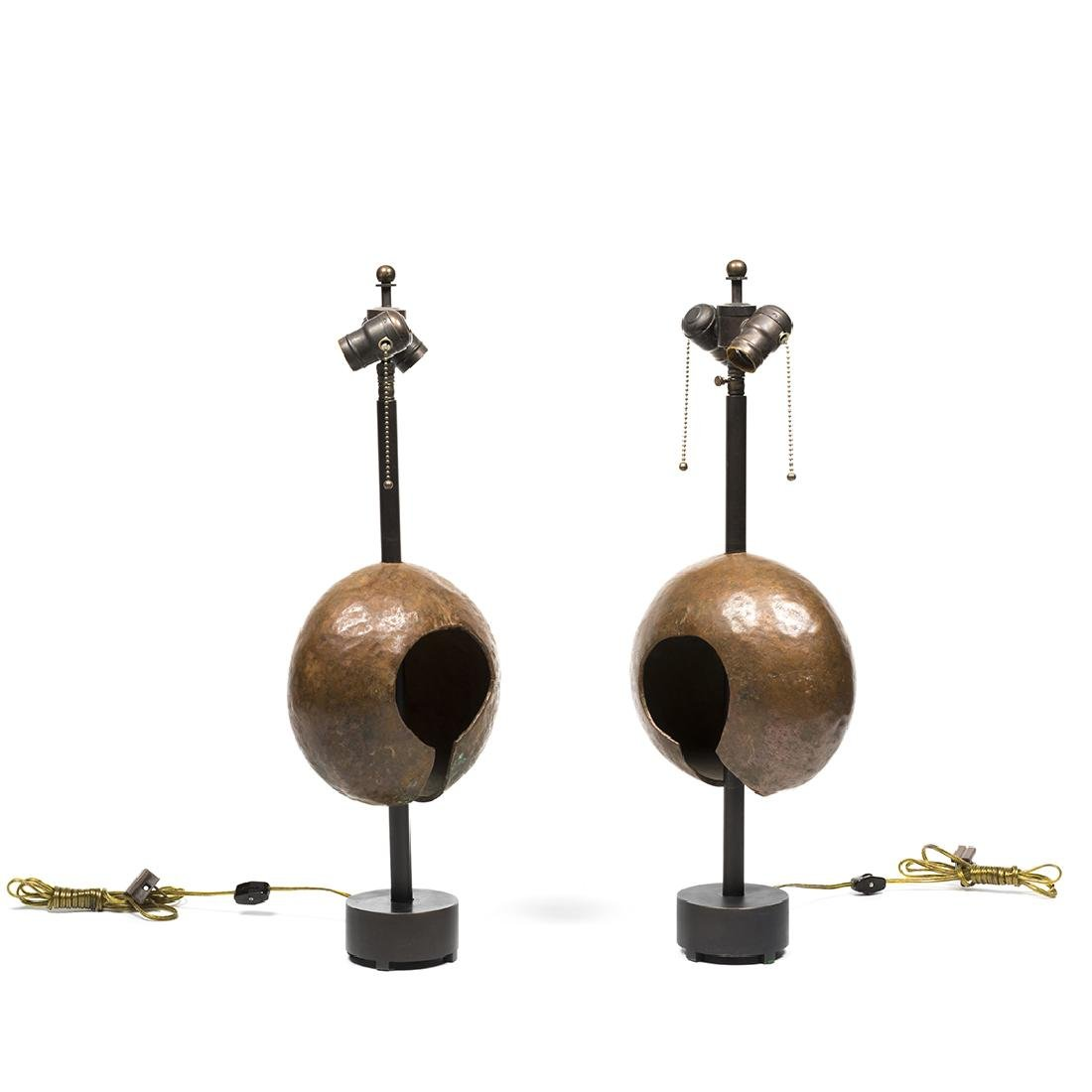Hammered Copper Lamps (2) - 2