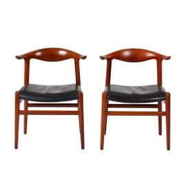 Hans Wegner Cow Horn Chairs (2)