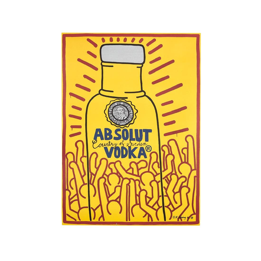 Keith Haring Absolut Vodka Lithograph
