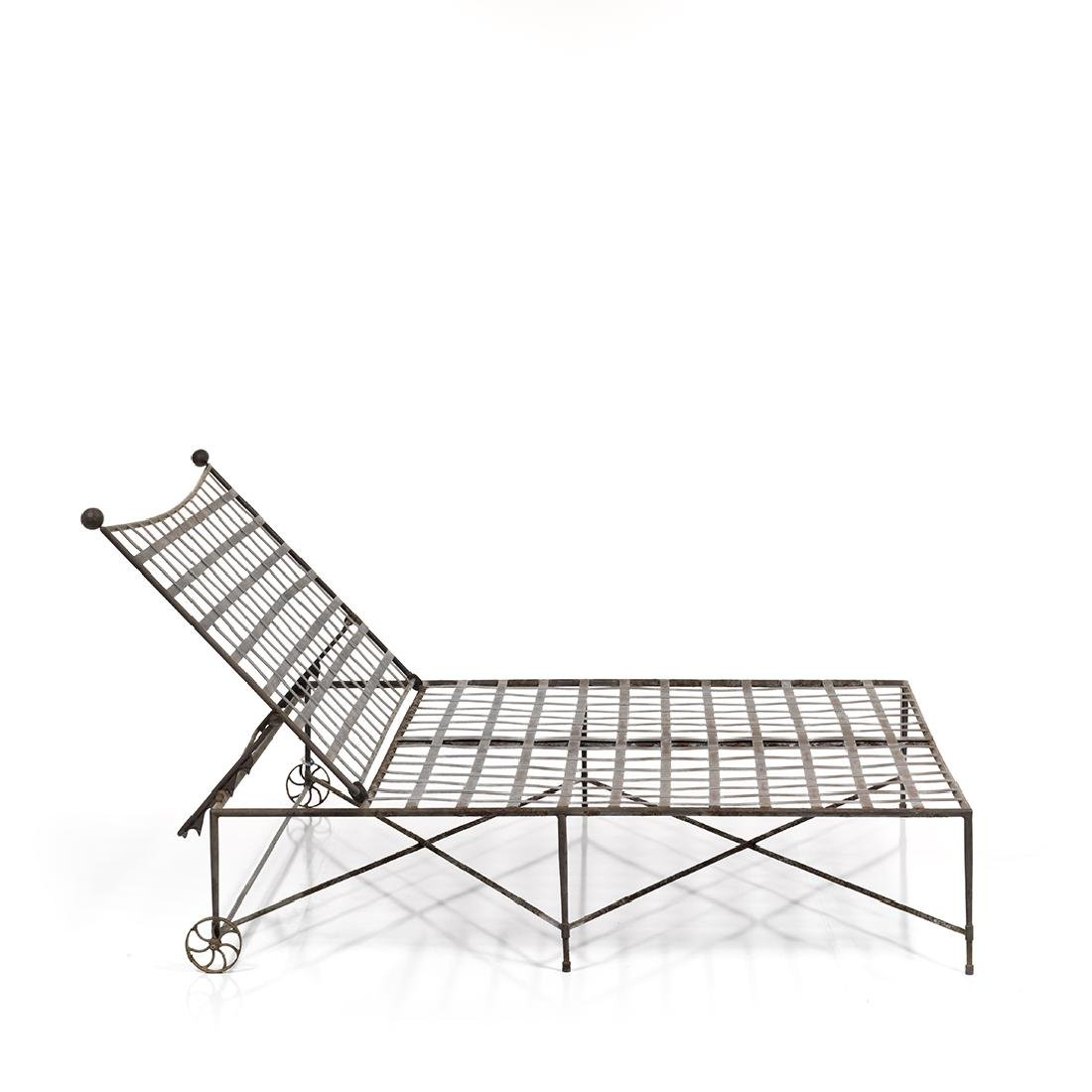 Double Wide Iron Chaise Lounges (2) - 3