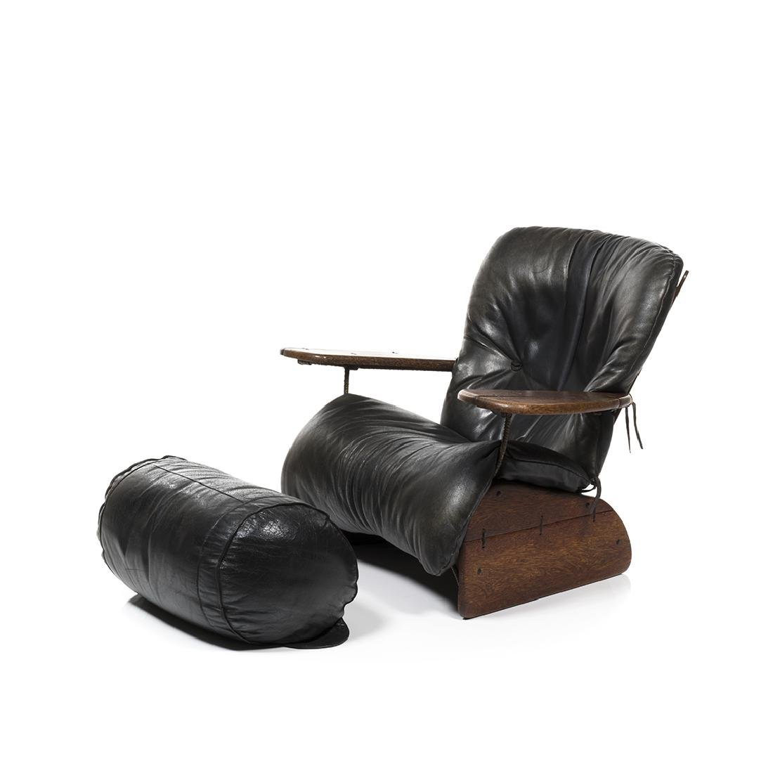 Pacific Green Lounge Chair and Ottoman