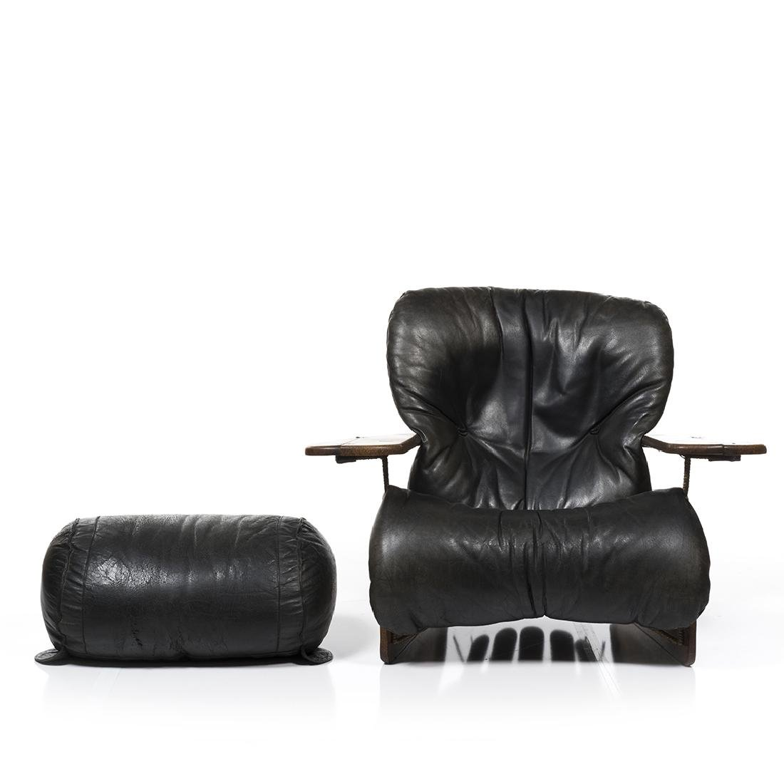 Pacific Green Lounge Chair and Ottoman - 3