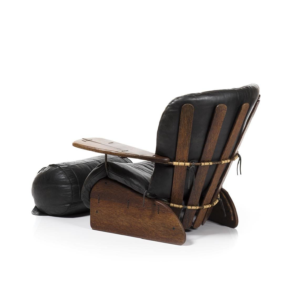 Pacific Green Lounge Chair and Ottoman - 4