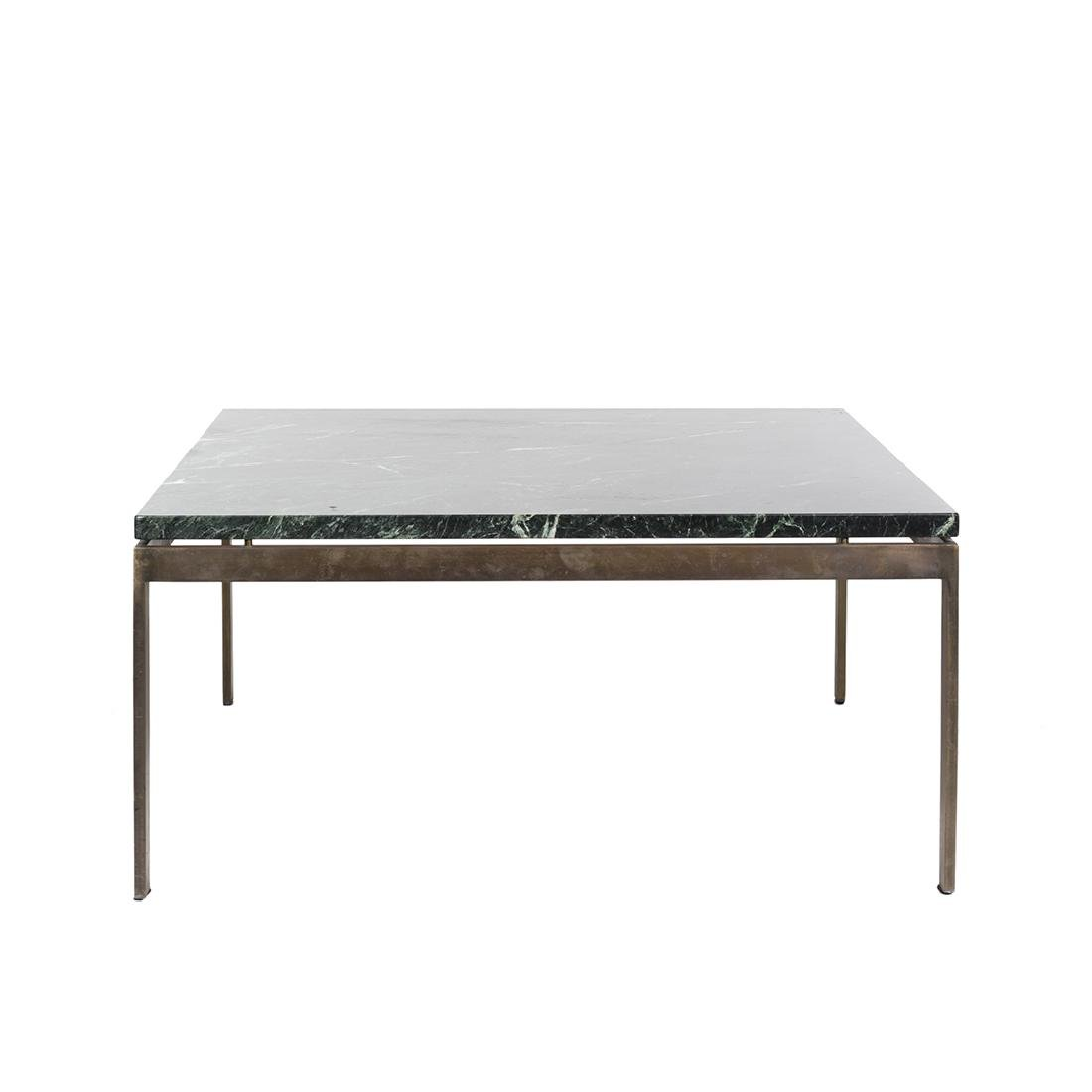 Marble and Bronze Coffee Table