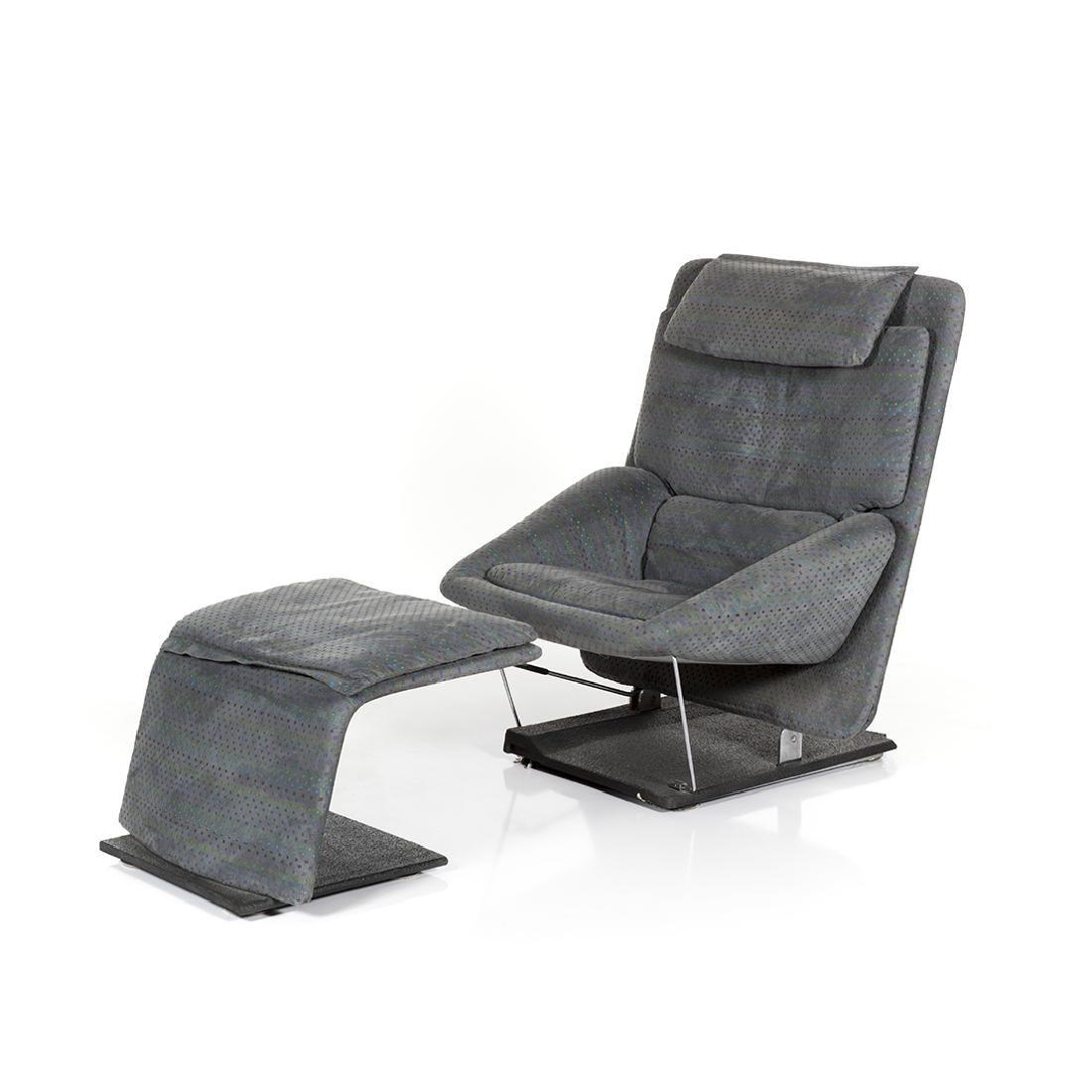 Saporiti Lounge Chair and Ottoman