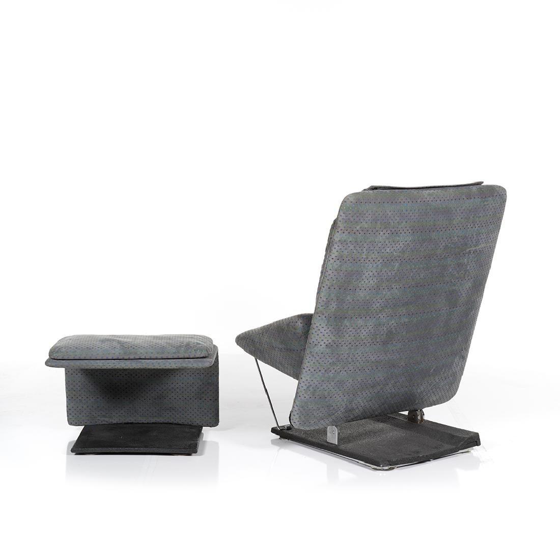 Saporiti Lounge Chair and Ottoman - 2