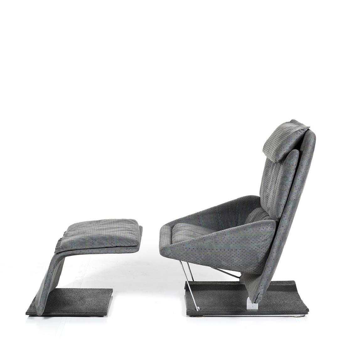 Saporiti Lounge Chair and Ottoman - 4