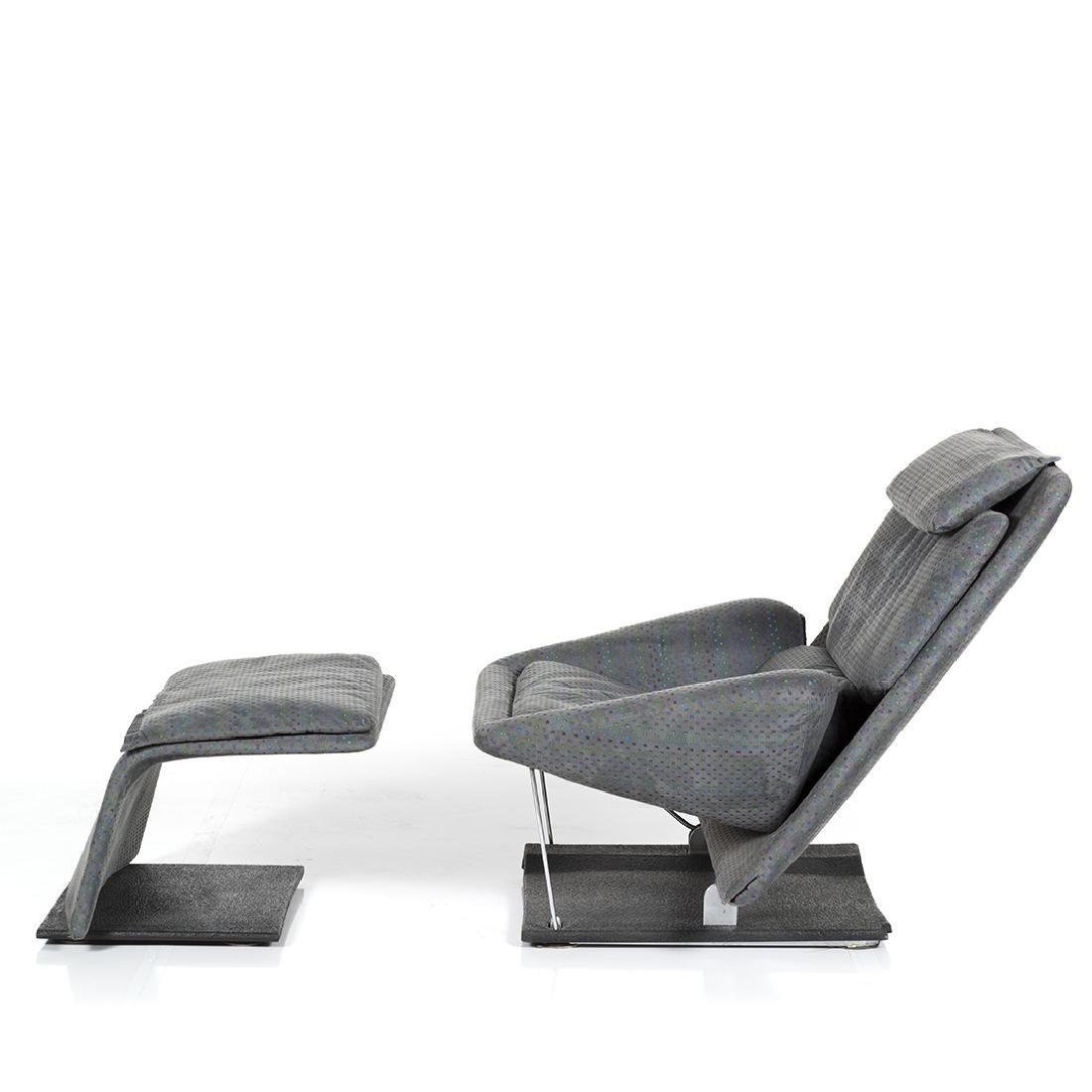 Saporiti Lounge Chair and Ottoman - 5